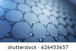 3d illusrtation of graphene... | Shutterstock . vector #626453657