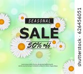 seasonal spring or summer sale...   Shutterstock .eps vector #626456051