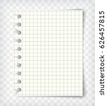 empty checkered note book page... | Shutterstock .eps vector #626457815