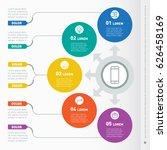business presentation concept... | Shutterstock .eps vector #626458169