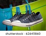 Old School Sneakers Hanging