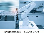 robotic arm machine tool at... | Shutterstock . vector #626458775