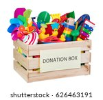 toys donations box isolated on... | Shutterstock . vector #626463191