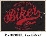 vintage biker graphics and... | Shutterstock .eps vector #626463914