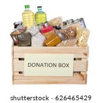 food donations box isolated on... | Shutterstock . vector #626465429