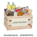Food Donations Box Isolated On...