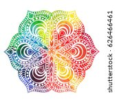 flower mandala design in... | Shutterstock .eps vector #626466461