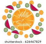 hello summer | Shutterstock .eps vector #626467829