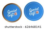 special gift stickers | Shutterstock .eps vector #626468141