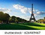 eiffel tower view from champ de ... | Shutterstock . vector #626469467