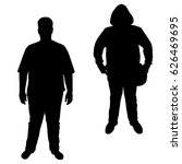 vector silhouette of a teenager ... | Shutterstock .eps vector #626469695