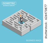 flat 3d isometric confused... | Shutterstock .eps vector #626473877