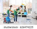 cleaning service team working... | Shutterstock . vector #626474225
