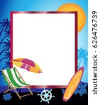 frame with marine facilities... | Shutterstock .eps vector #626476739