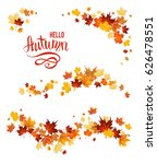 autumn leaves design elements.... | Shutterstock .eps vector #626478551