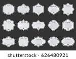 vector set of white vintage... | Shutterstock .eps vector #626480921