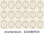 vector set of vintage frames on ... | Shutterstock .eps vector #626480924
