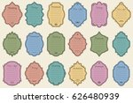 vector set of vintage frames on ... | Shutterstock .eps vector #626480939