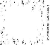 square frame of music notes... | Shutterstock .eps vector #626483075