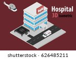 3d isometric hospital with... | Shutterstock .eps vector #626485211