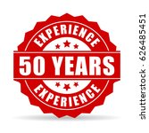 50 years experience vector icon ... | Shutterstock .eps vector #626485451