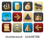 pirate icons | Shutterstock .eps vector #62648788