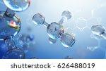 3d illustration of molecule... | Shutterstock . vector #626488019