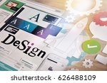 design services. concept for... | Shutterstock . vector #626488109