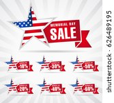 memorial day sale discount... | Shutterstock .eps vector #626489195