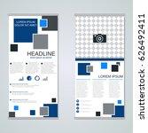 modern roll up business banners ...   Shutterstock .eps vector #626492411