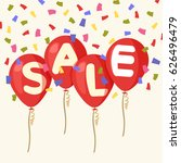flying balloons  concept of...   Shutterstock .eps vector #626496479