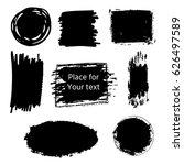 hand drawn grunge brush strokes ... | Shutterstock .eps vector #626497589