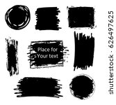 hand drawn grunge brush strokes ... | Shutterstock .eps vector #626497625