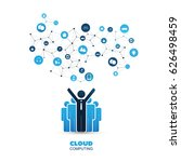 cloud computing design concept... | Shutterstock .eps vector #626498459