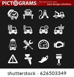 car service vector icons for... | Shutterstock .eps vector #626503349