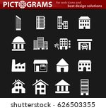buildings vector icons for user ... | Shutterstock .eps vector #626503355