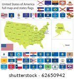 united states of america states ... | Shutterstock .eps vector #62650942