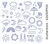 collection of doodle outline...   Shutterstock .eps vector #626509934