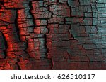 charred wood texture  painted... | Shutterstock . vector #626510117