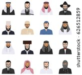 different jewish and muslim... | Shutterstock .eps vector #626512859