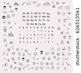 hands drawing sketchnote... | Shutterstock .eps vector #626513561
