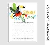 summer birthday party greeting... | Shutterstock .eps vector #626517725