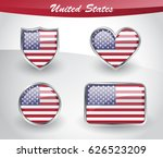 glossy united states of america ... | Shutterstock .eps vector #626523209