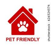 pets allowed  pet friendly red... | Shutterstock .eps vector #626524574