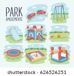 vector cartoon set of elements... | Shutterstock .eps vector #626526251