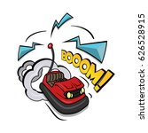 crazy bumper a car vector... | Shutterstock .eps vector #626528915