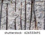 rusty lattice in a concrete... | Shutterstock . vector #626533691
