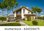 3d rendering of modern cozy... | Shutterstock . vector #626534675