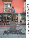 Small photo of Mexico City, circa february 2017: Mariachi statue Plaza Garibaldi in Mexico City