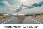 in front of two apparently same ... | Shutterstock . vector #626537084